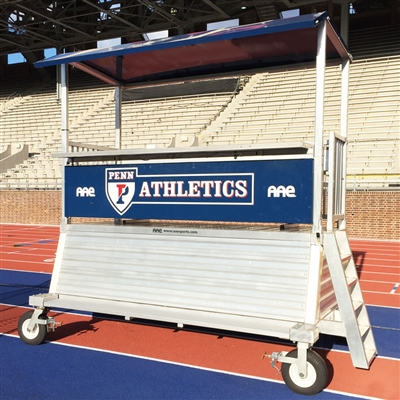 DONKEY-2 - Portable 4' High Elevated Press Box with Storage